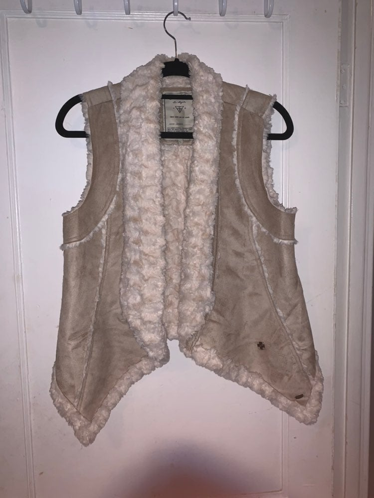 Guess Faux fur and suede vest Large