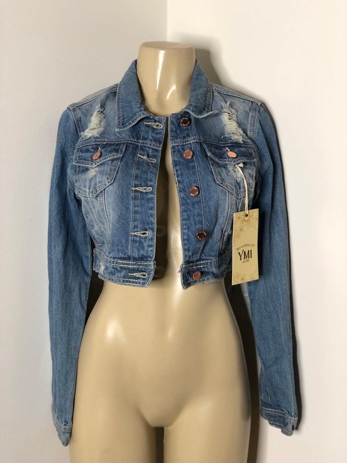 YMI jeans denim rip & tear jacket