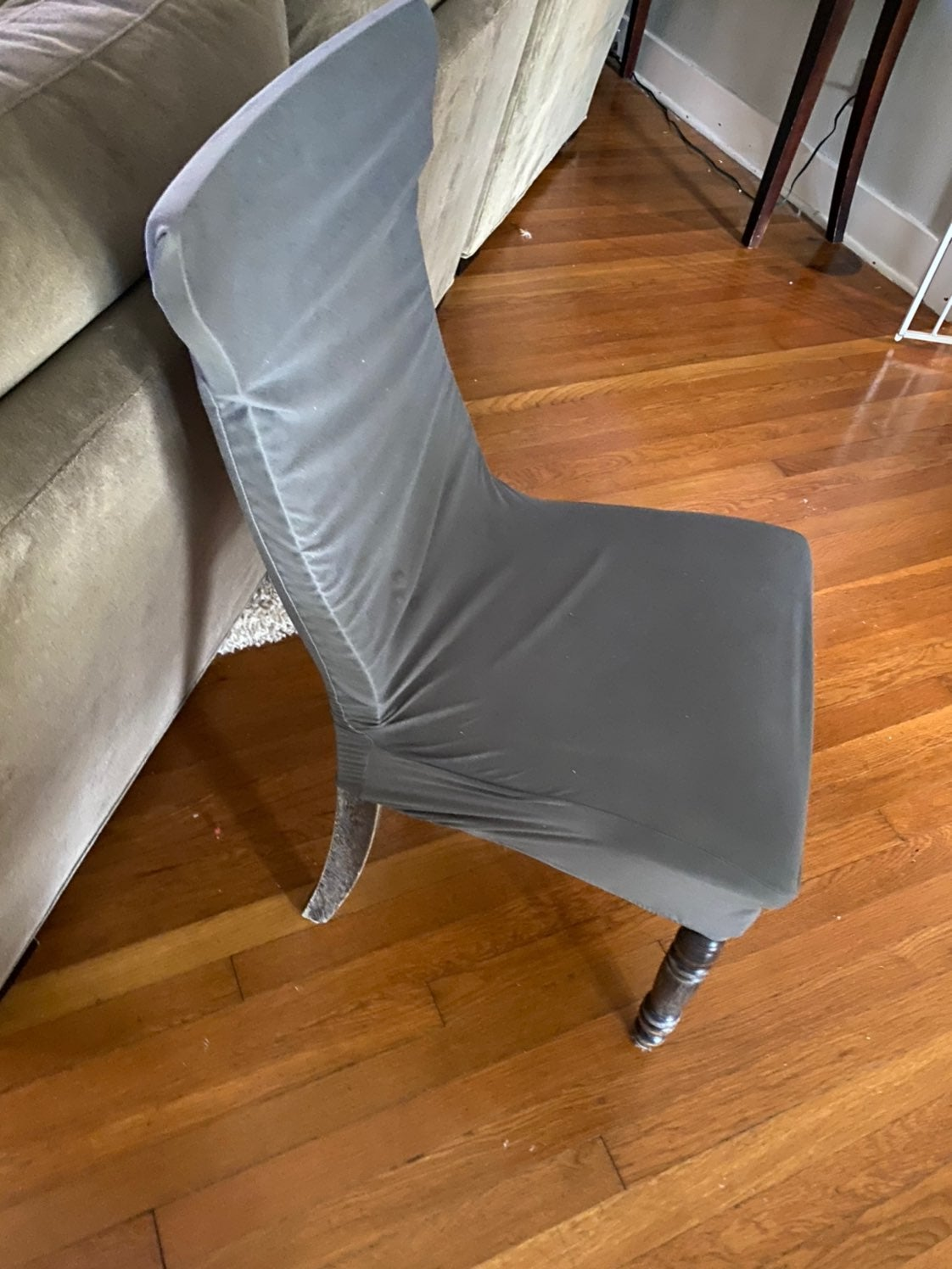 Stretch grey washable chair covers