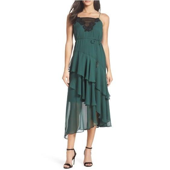 Cooper St Lucille Green Midi Dress SZ 2