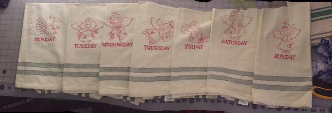 Angel kitchen towels