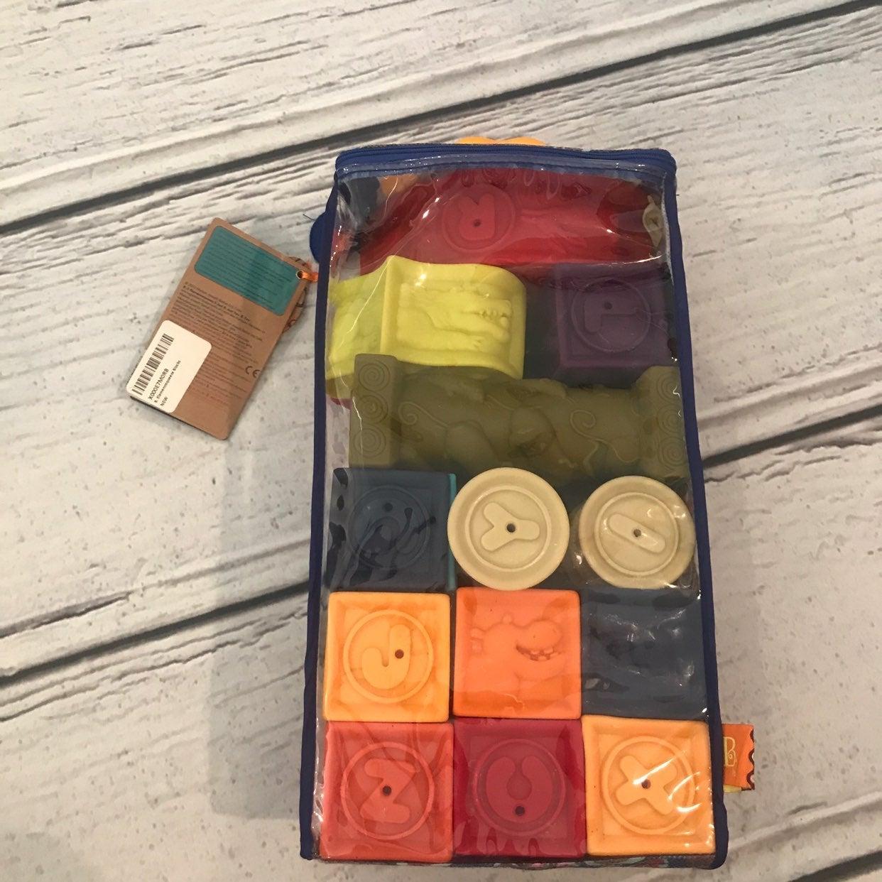B Toys alphabet squeeze blocks