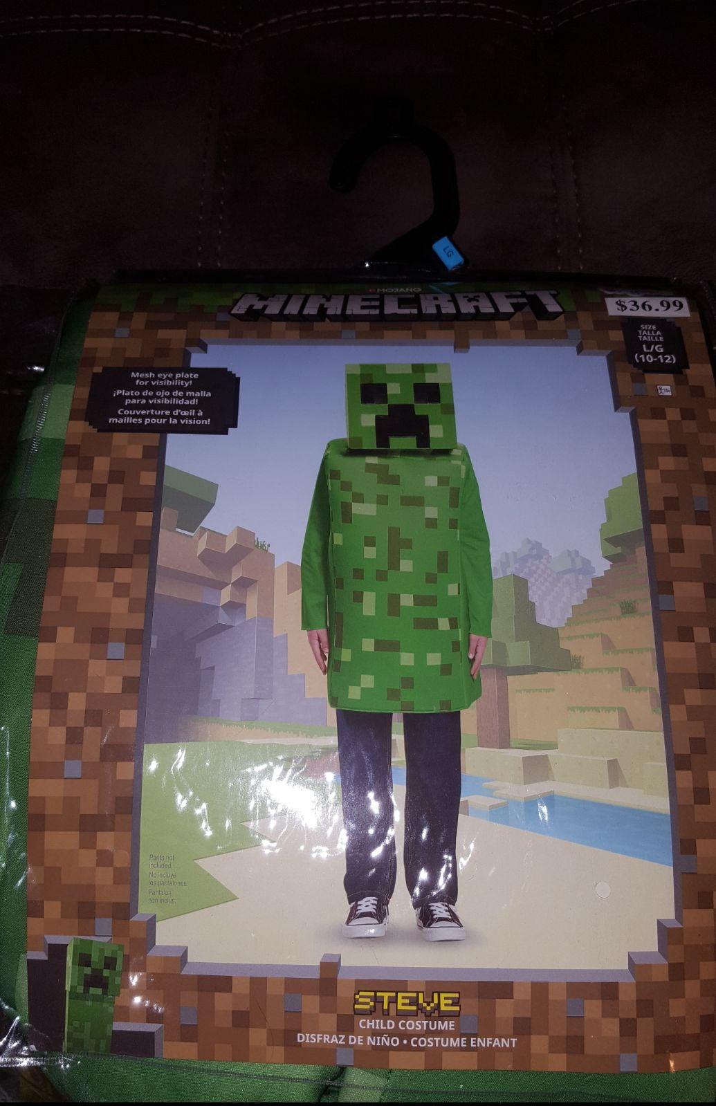 Minecraft kids creeper costume 10/12