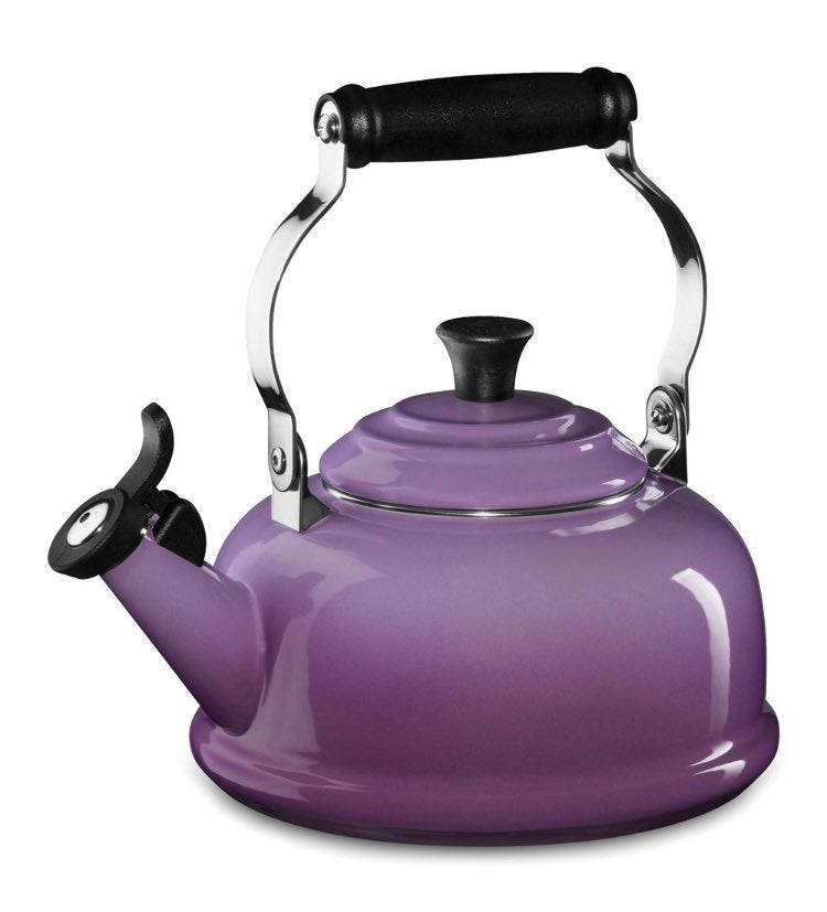 Le creuset purple tea kettle rare color