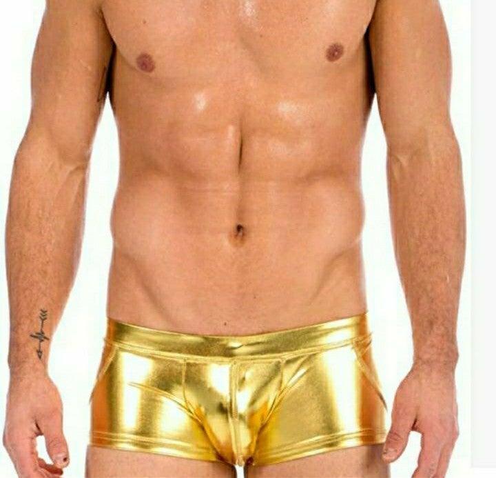 BNWT gold swimtrunks
