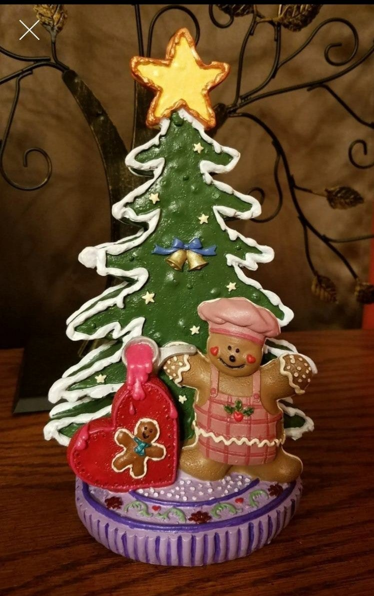 Hand painted Gingerbread man statue