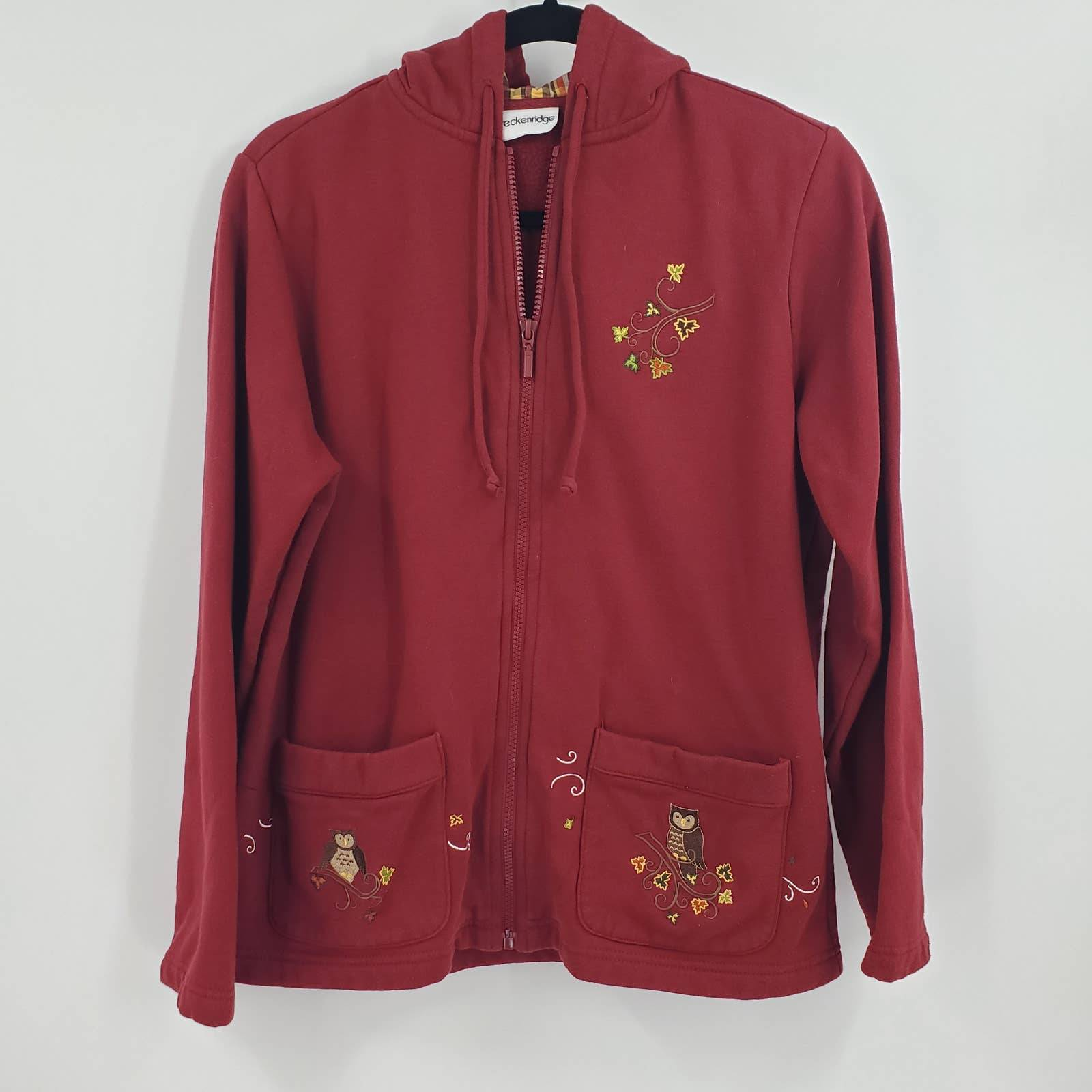 Vintage Jacket Embroidered Hooded Zip Up