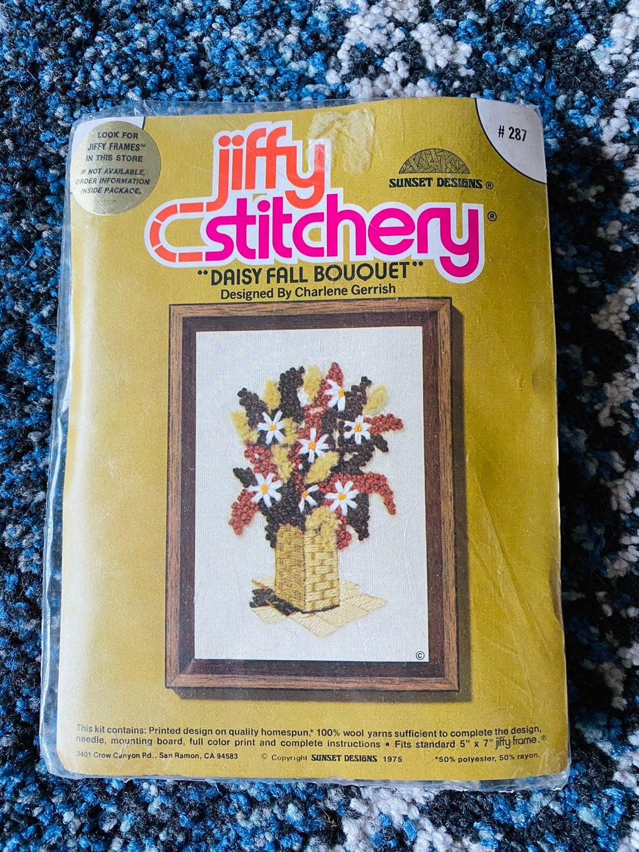 Vintage Jiffy Stitchery Kit