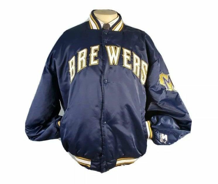 Starter Satin Jacket Milwaukee Brewers