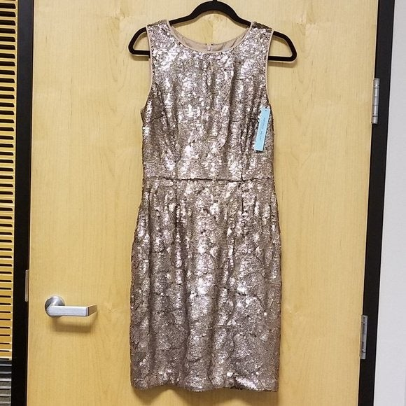 Antonio Melani NWT Gold Dress size 6