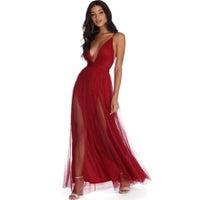 2f8b8fe6218b Windsor Formal Dress in Wine Color Red