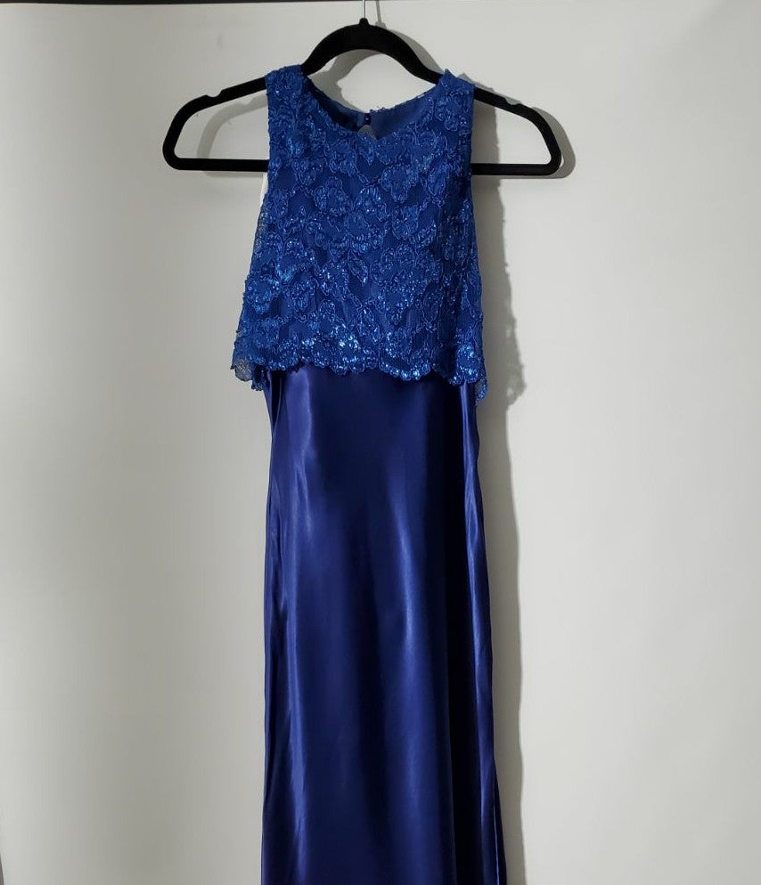 Maurices long blue dress