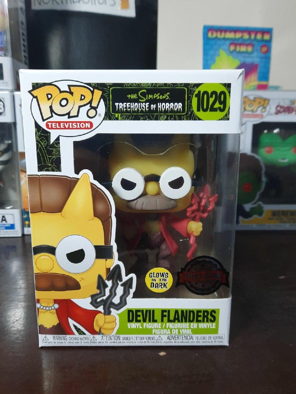 Devil Flanders GLOW Funko Pop 1026 SIMPS