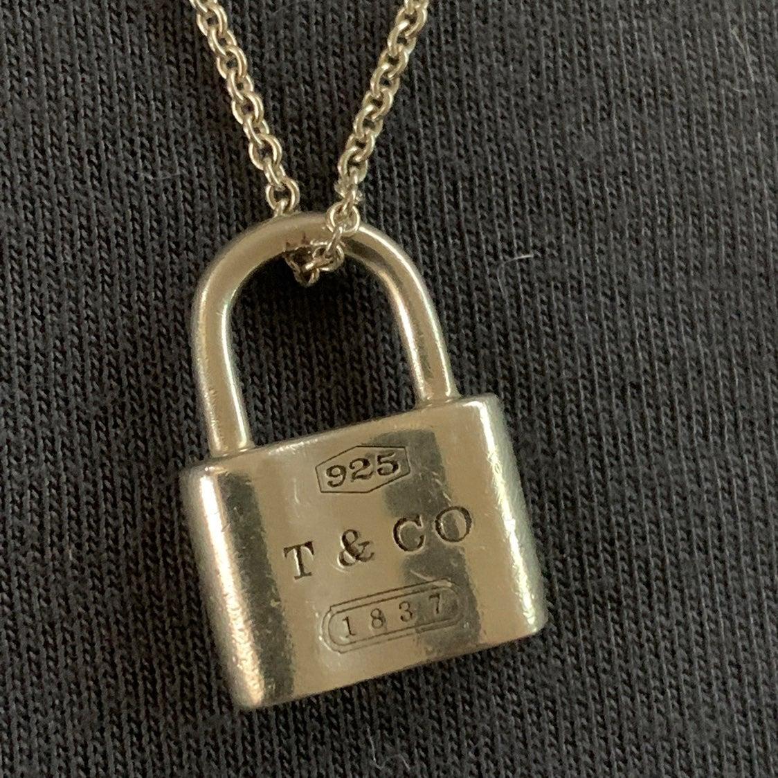 Tiffany & Co. Lock Pendant Necklace