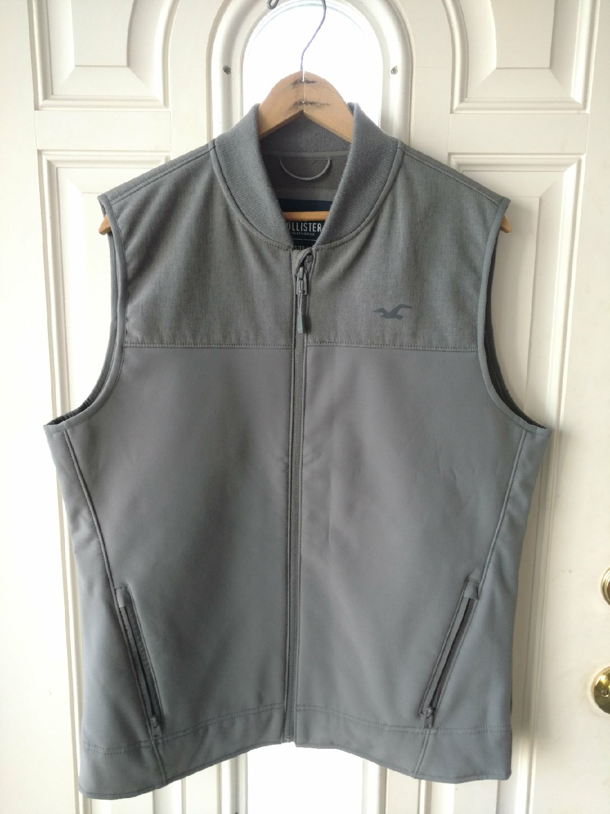 Mens Grey Hollister Vest