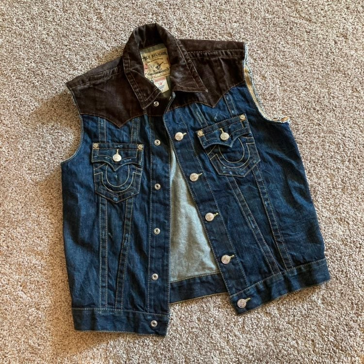 "True Religion denim ""jimmy"" vest"