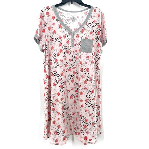 Cuddl Duds  T-Shirt Nightgown ~ Large
