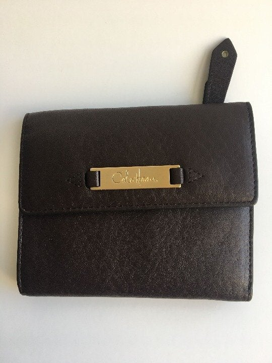 Cole Haan  Leather Tri Fold Wallet Brown