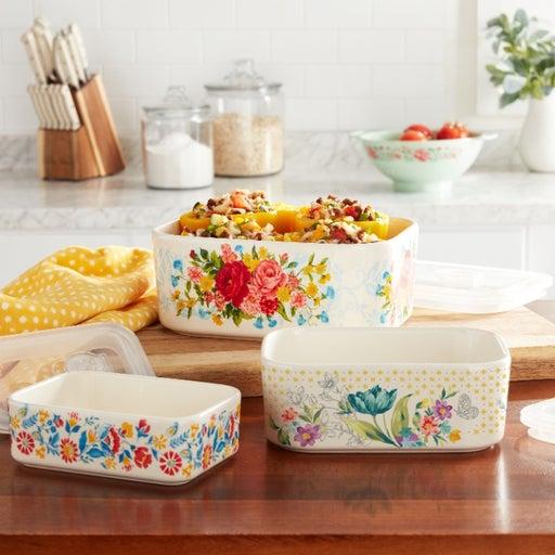6-Piece Rectangle Ceramic Nesting Bowls