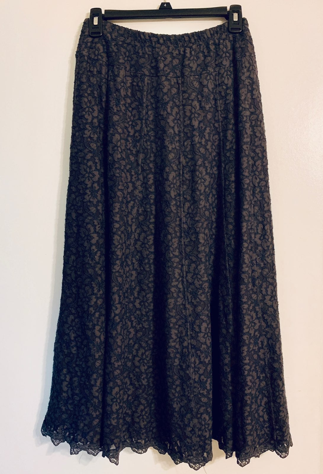 Womens Grey Full Length Skirt Size Sm
