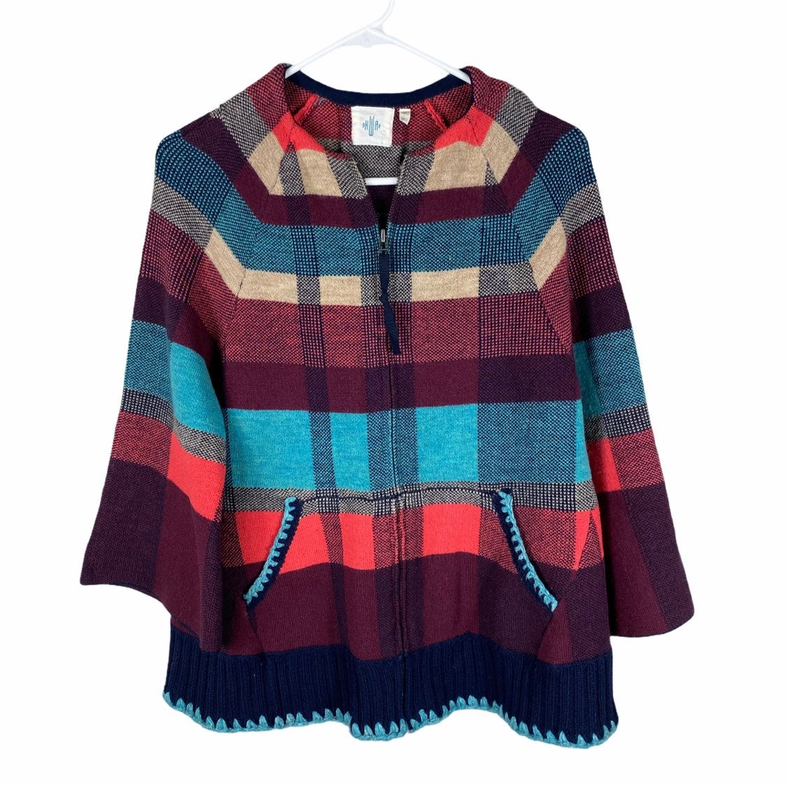 Anthropologie wool jacket xs colorful