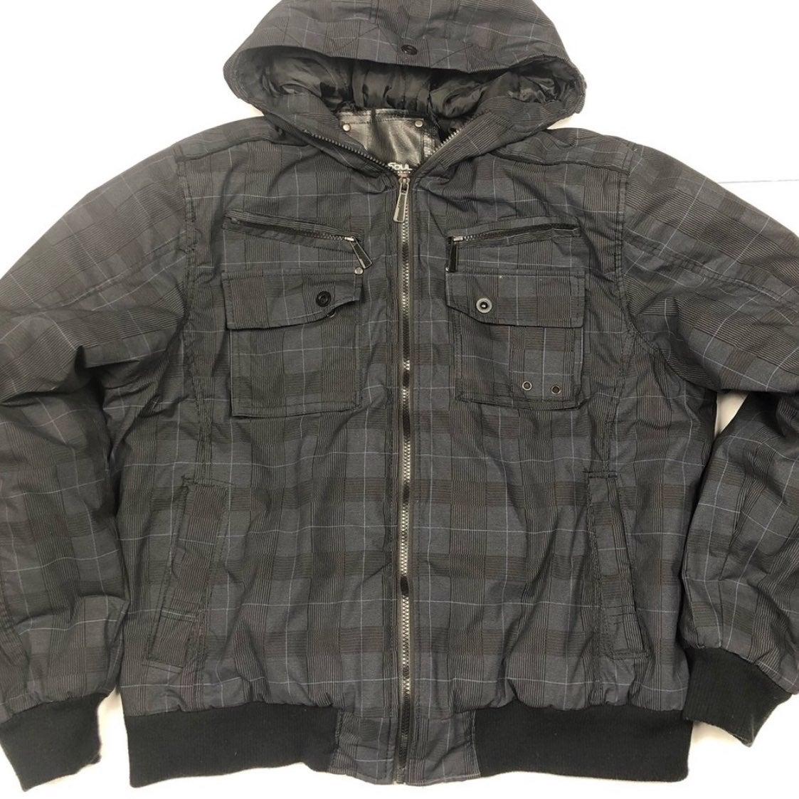 Brave Soul Jacket Coat Hooded Bomber