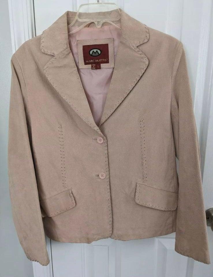 Marc Mattis Large Pink Leather Jacket