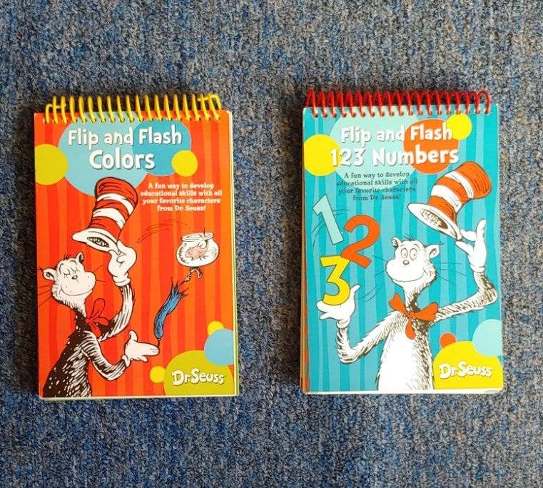Set of 2 Dr Seuss Flashcard Books