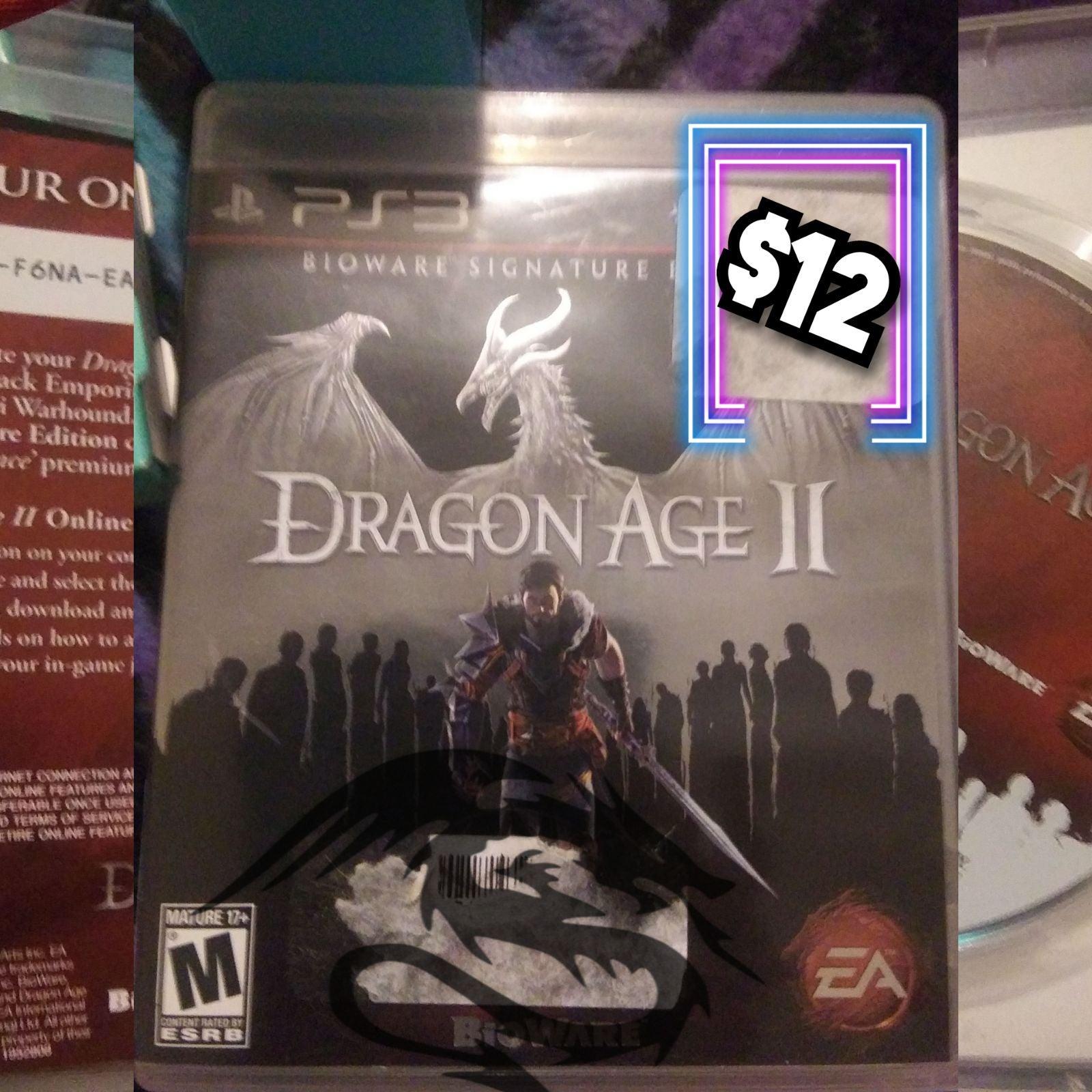 ps3 games Dragon Age II Bioware Signatur