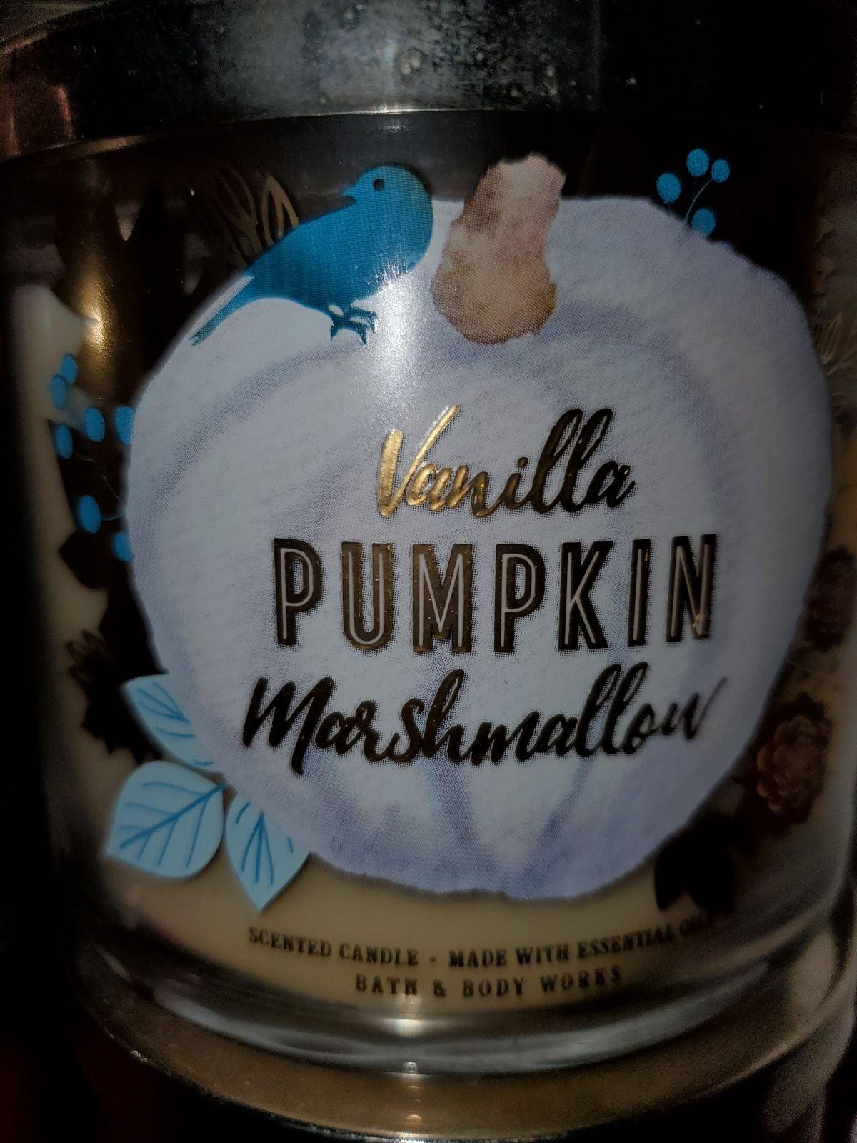 Bbw 3 wick vanilla pumpkin marshmallow c