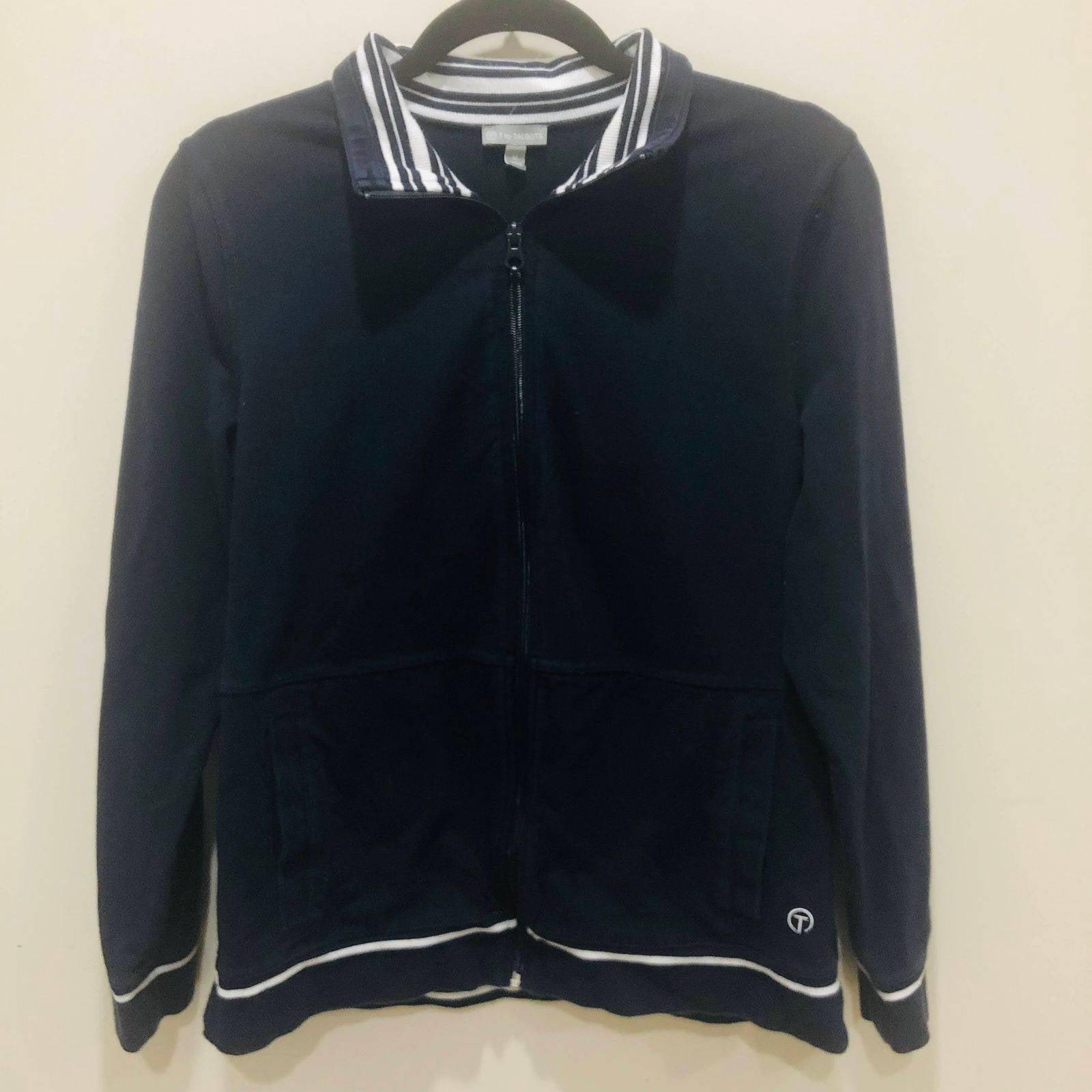 Talbots Navy Zip Up Light Sweatshirt M