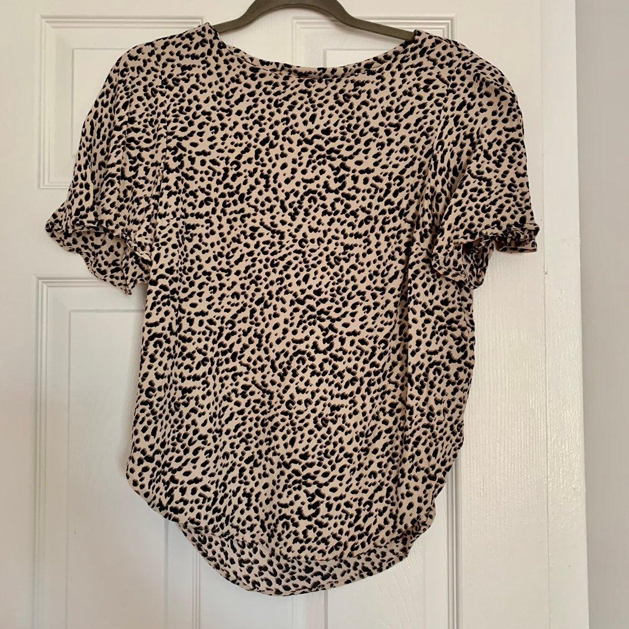 H&M Leopard Print Blouse size 6