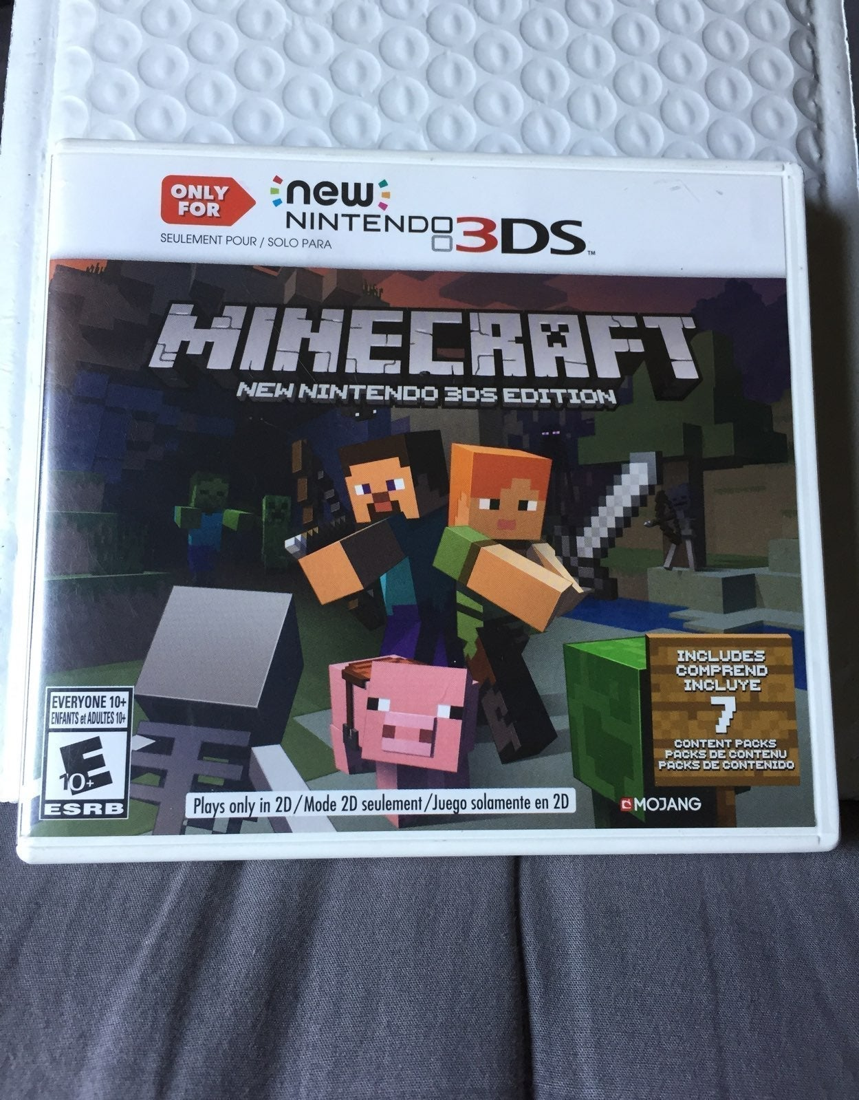 Only for new Nintendo 3DS minecraft