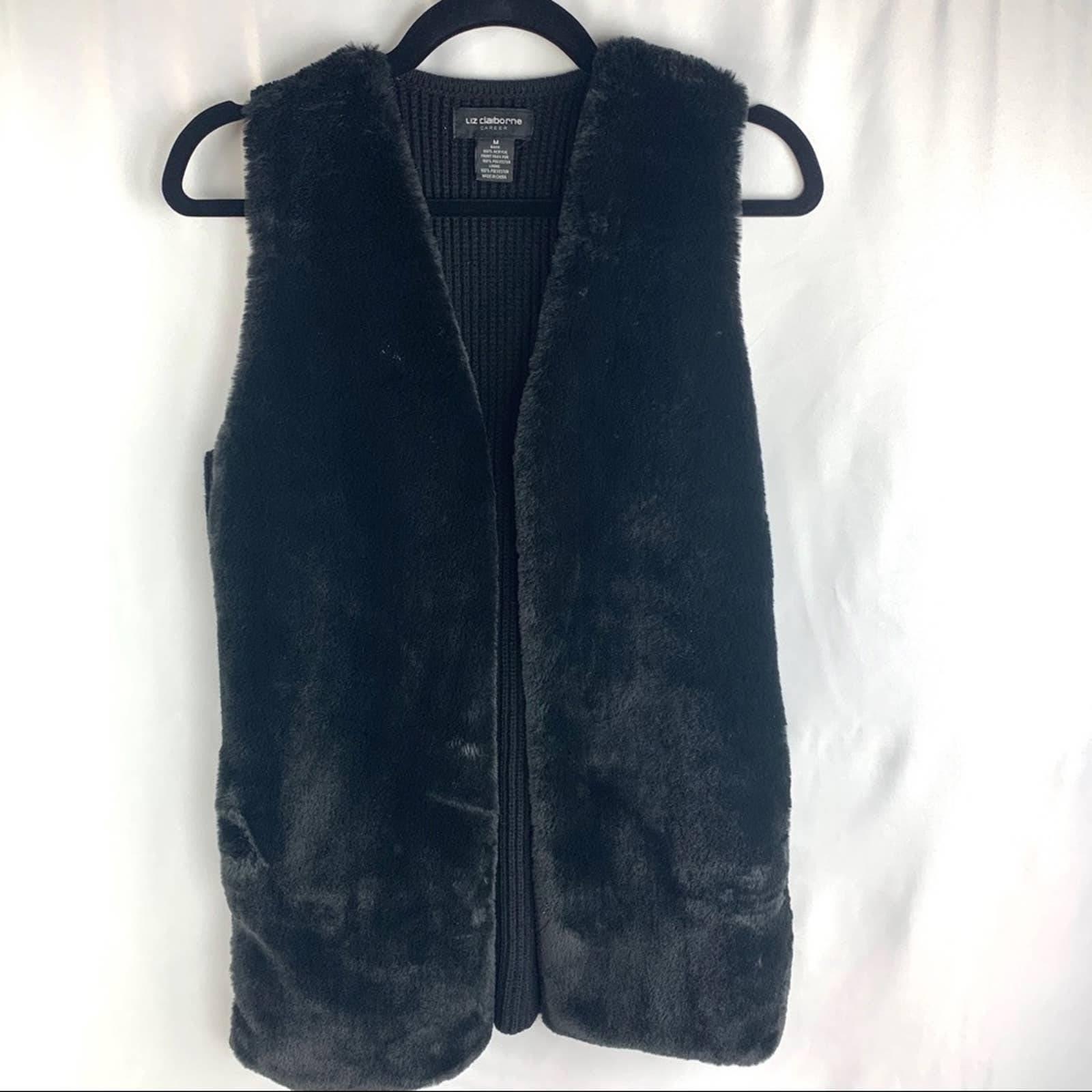 Liz Claiborne Faux Fur Vest