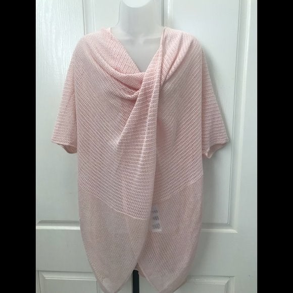 NWT-ALLSAINTS Twist Tee Candy Pink Top M