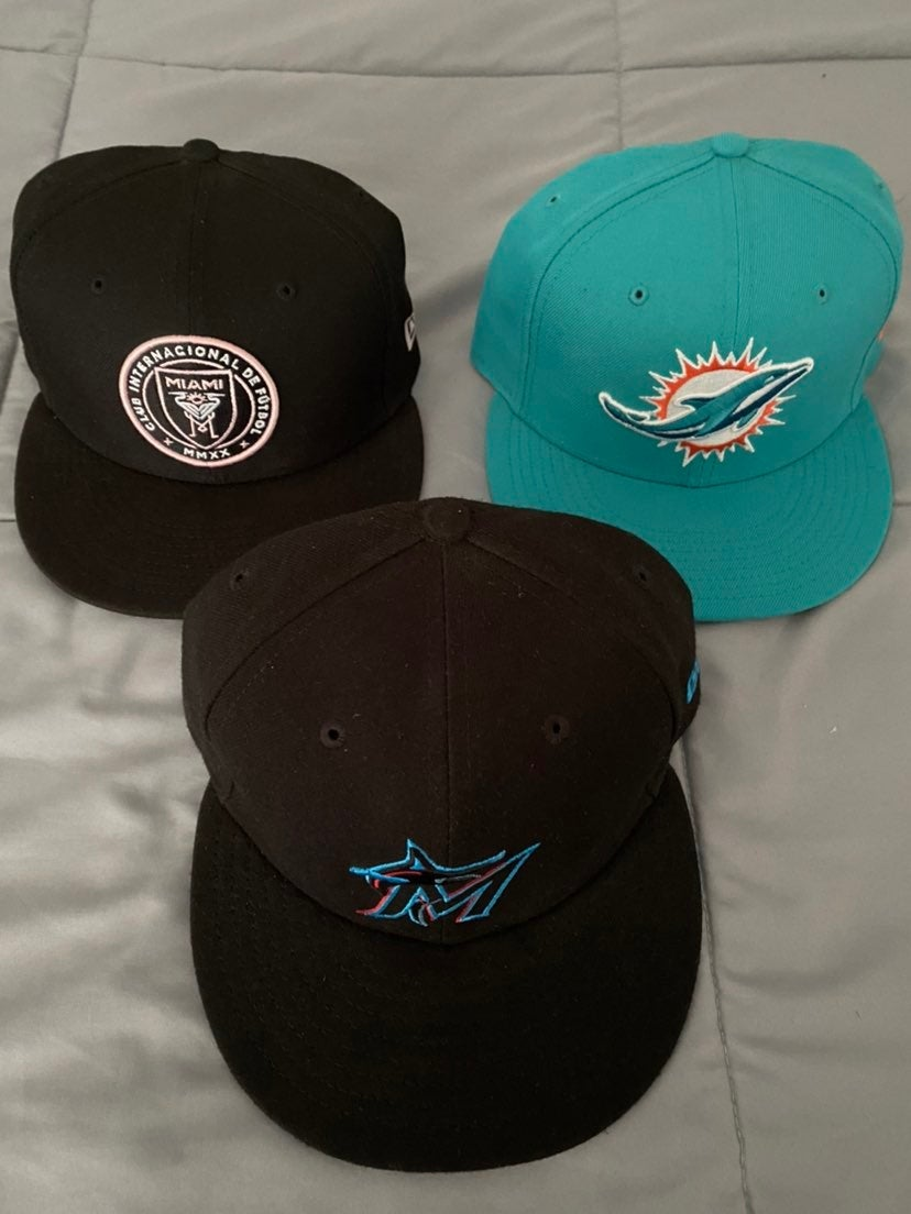 Miami Fitted Hat Lot