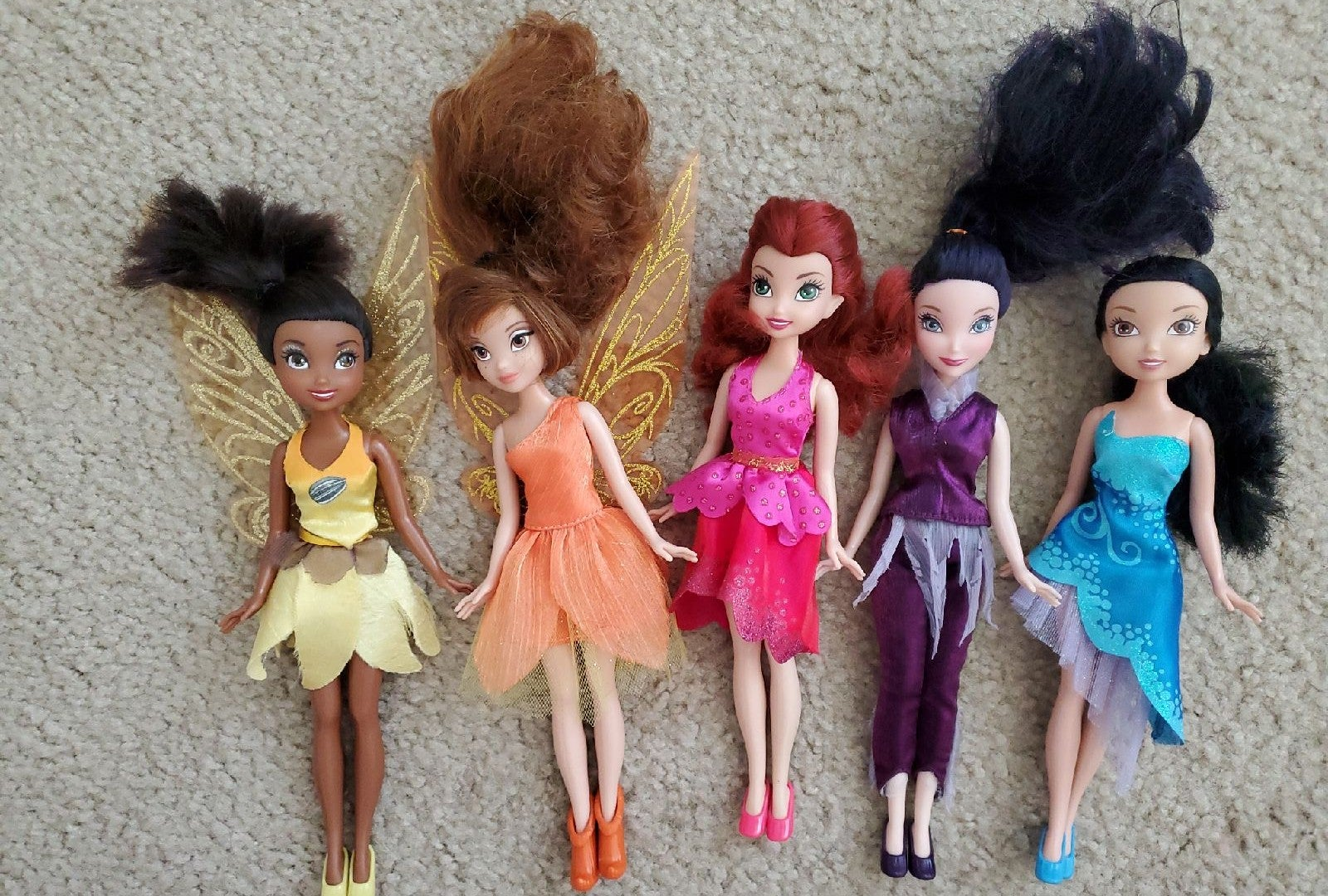 Lot of Disney Fairies Dolls