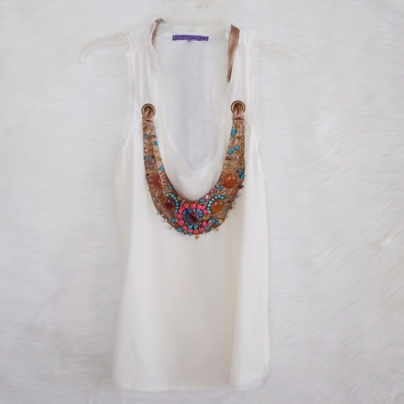 SugarLips Necklace Ivory Silk Tank Top