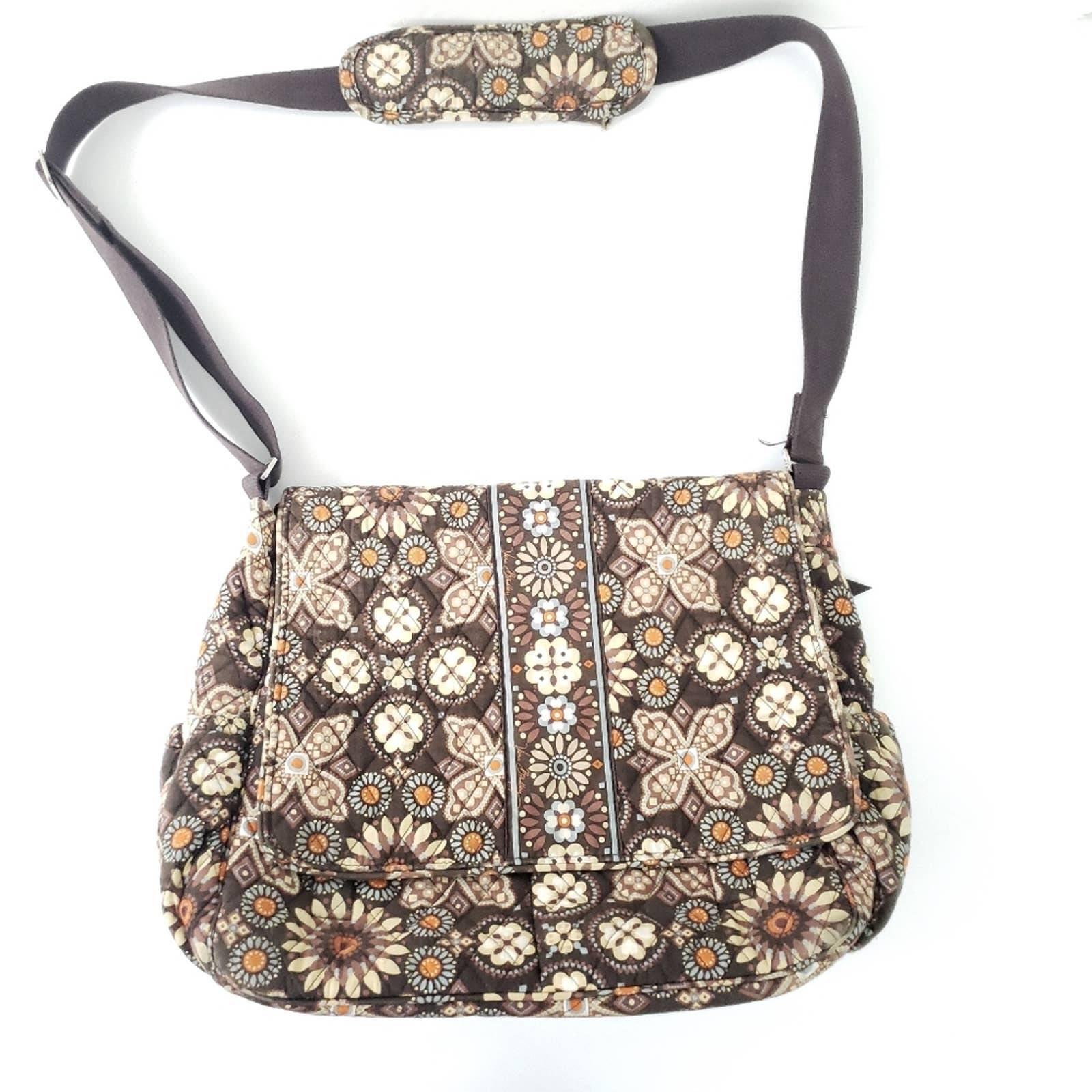 Vera Bradley Brown Floral Diaper Bag