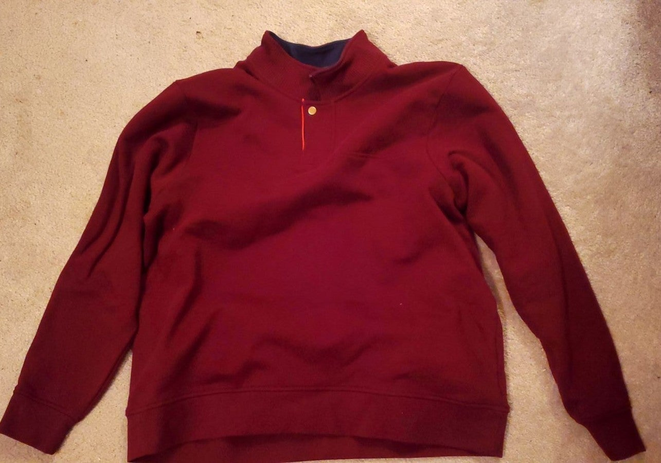 Red Orvis Pullover XXL