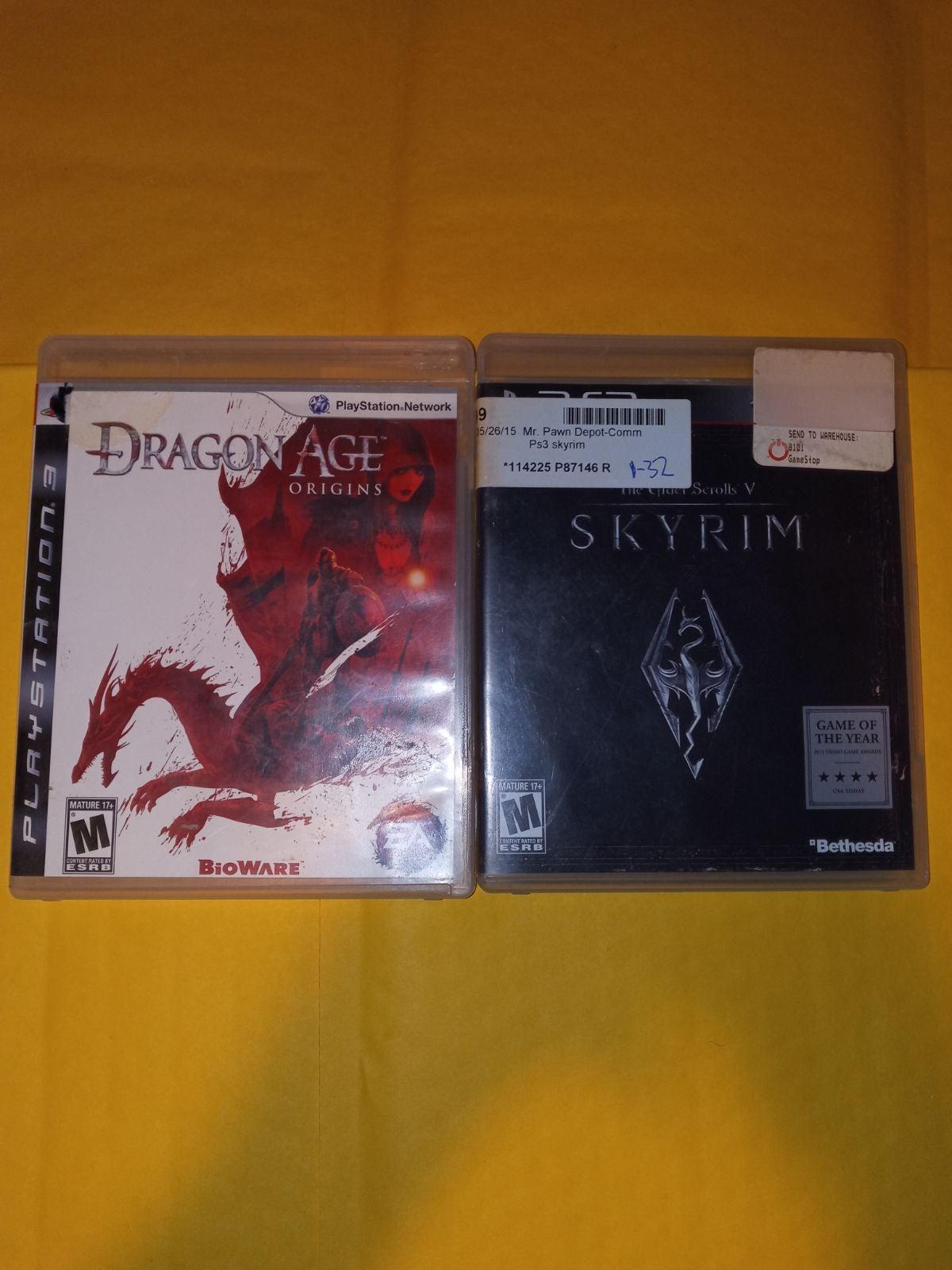Dragon Age: Origins & Skyrim On Ps3