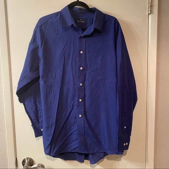 Blue Barrington Button Down Dress Shirt
