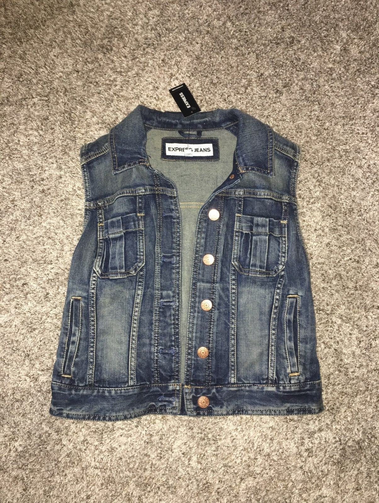 New Express Denim Vest