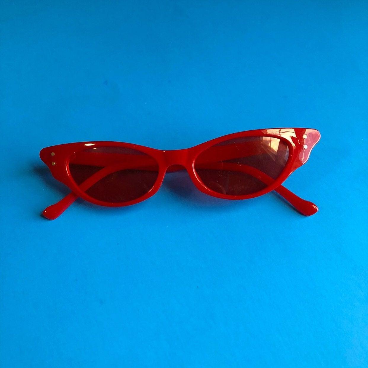 red mini sunglasses