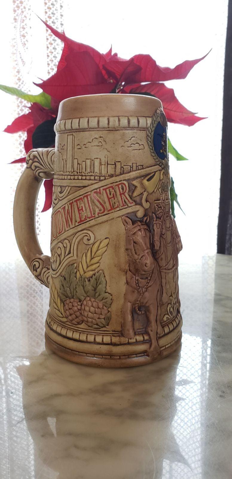 BUDWEISER STEIN CERAMARTE BEER MUG