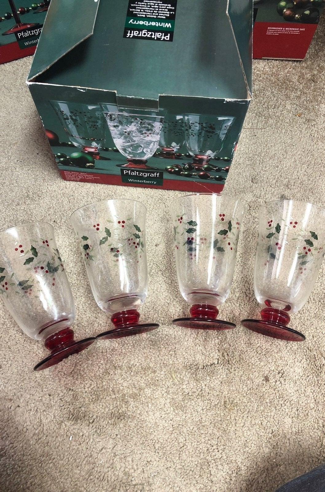 Pfaltzgraff Water Goblet Set of 4