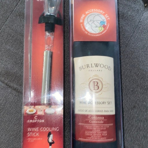 Wine accessory kit and cooling stick