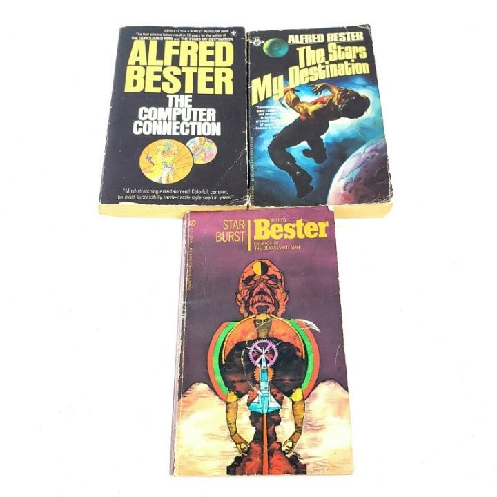 Alfred Bester Vintage Sci Fi Books Stars