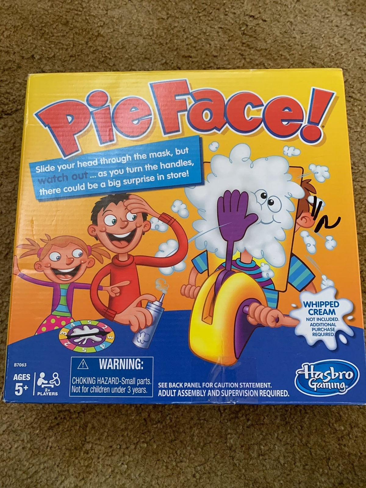 Pie In The Face Frame Hand Game