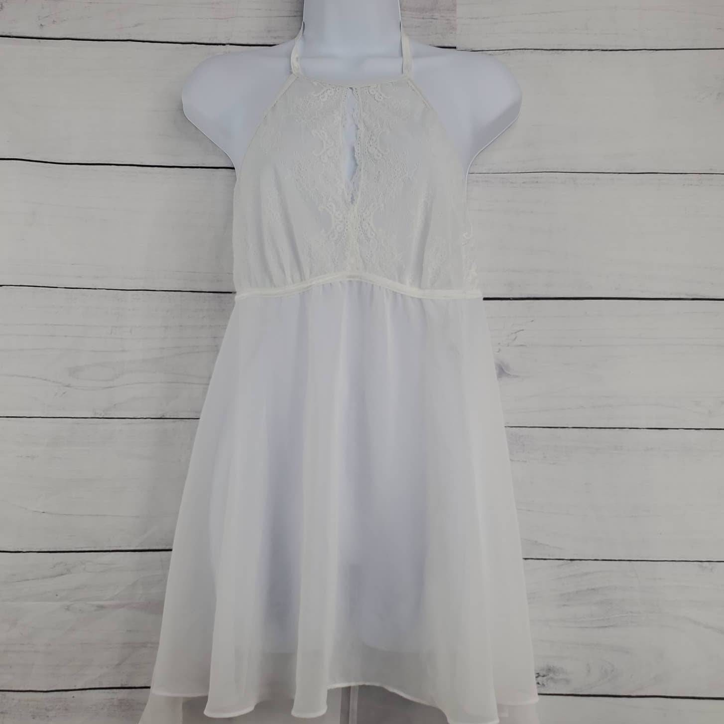 Gilligan O Malley Lace Halter Night Gown